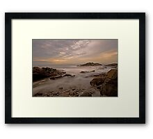 Here comes the tide Framed Print