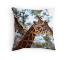 long necks... Throw Pillow