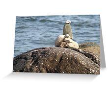 Beach Cairn Greeting Card