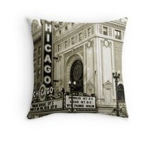 The Chicago Theater Throw Pillow