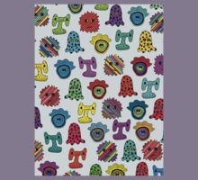 pattern with monsters Kids Tee