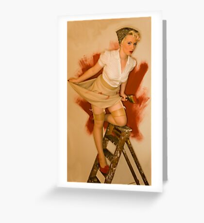 Painting The Town Red Greeting Card