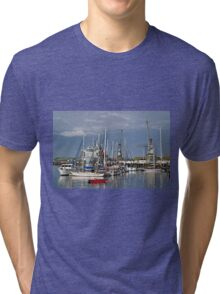 Falmouth Harbour and Docks Tri-blend T-Shirt