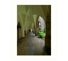 In the Cloister, the Cathedral, Meissen, Saxony, Germany Art Print