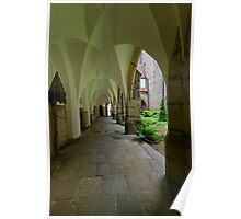 In the Cloister, the Cathedral, Meissen, Saxony, Germany Poster