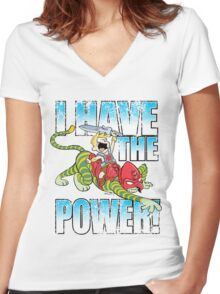 I HAVE THE POWER!!! Women's Fitted V-Neck T-Shirt