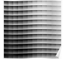 abstract grey squares Poster