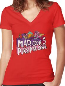 maroon 5 Women's Fitted V-Neck T-Shirt