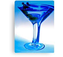 Blue Martini Canvas Print