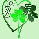 Two Green Shamrocks In My Heart by Lotacats