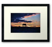 Sunrise Walk  Framed Print