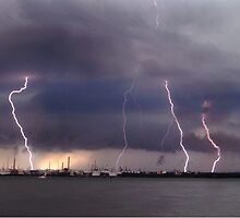 Lightning strikes Oil Refinery in UK by ChrisBalcombe