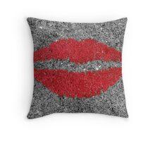 Lipstick Sidewalk Throw Pillow