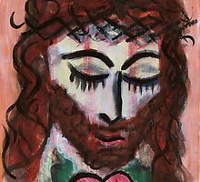 Jesus Heart by Fiona Lokot
