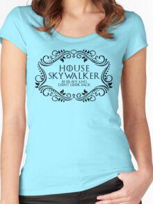 House Skywalker (black text) Women's Fitted Scoop T-Shirt
