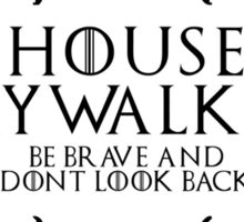 House Skywalker (black text) Sticker