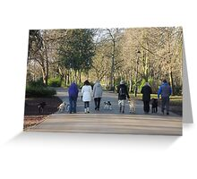 Dogwalkers Greeting Card