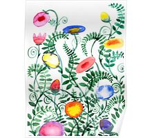 beautiful illustration of Hand Painted flower Wild  Poster