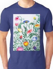 beautiful illustration of Hand Painted flower Wild  Unisex T-Shirt