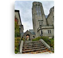Autumn in the City, No. 5 (Local church) Canvas Print