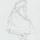 Elegant Woman Wearing Dress and Dancing by MikeJory