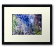 Abstract watercolor hand painted background Framed Print