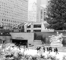 #652  Rockefeller Plaza in infrared by MyInnereyeMike