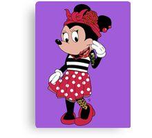 Rockabilly Minnie Mouse Canvas Print