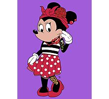 Rockabilly Minnie Mouse Photographic Print