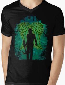 Winged Archer. Mens V-Neck T-Shirt
