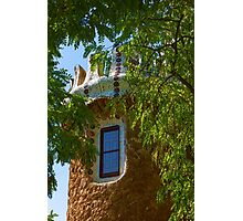 Fairy Tale Building Through the Trees - Impressions Of Barcelona Photographic Print