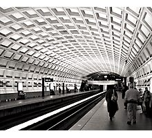 Waiting for the Metro, Washington DC Photographic Print