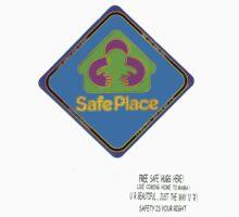 Safe Place sign Kids Tee