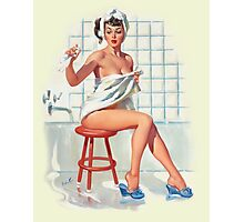 Bathing Pin-up Photographic Print