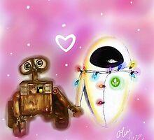Wall-e love by LivLoveLaugh