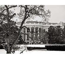 Winter White House, Washington DC Photographic Print