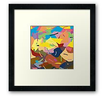 Abstract paint strokes Framed Print