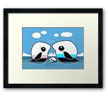 Paradise Penguin Family Framed Print