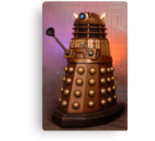 Gold Doctor Who Dalek from 2005 Canvas Print