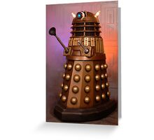 Gold Doctor Who Dalek from 2005 Greeting Card