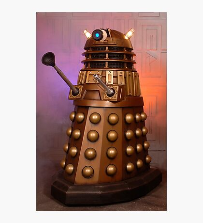 Gold Doctor Who Dalek from 2005 Photographic Print