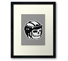 Russel Crowe – Hockey skull Framed Print