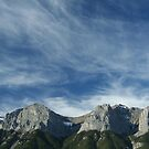 Kananaskis mountains; high cirrus clouds  by cascoly