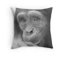 Cheeky Chimp Throw Pillow