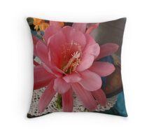 Epiphyllum Flower Throw Pillow