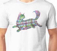 Fantastical Flying Tartan Cat Unisex T-Shirt