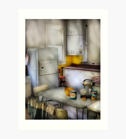 A 1960's Kitchen Art Print