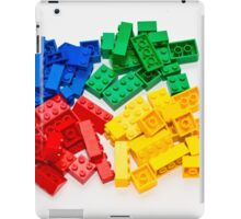 4 colors lego bricks blue green yellow red iPad Case/Skin