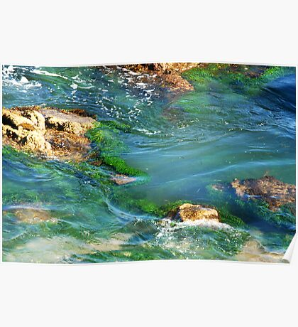 Emerald Pool - Caves Beach NSW Australia Poster