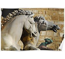 Horses from Neptune Statue, Florence Poster